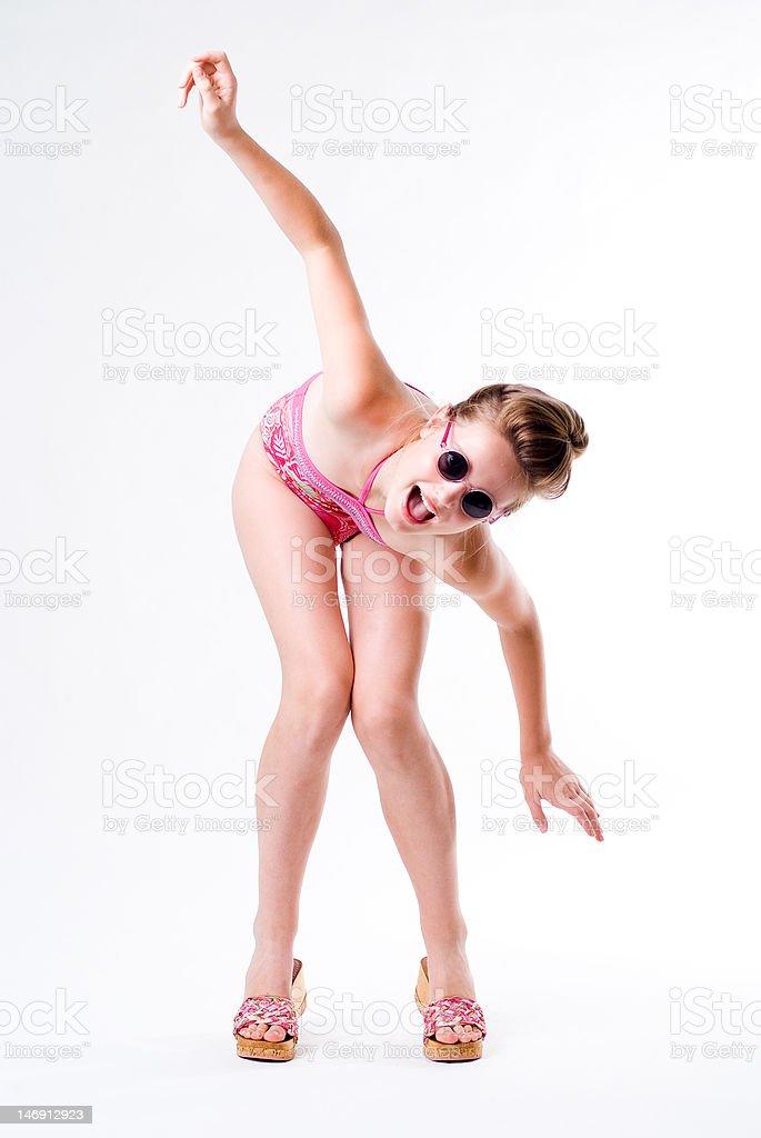 Flying pose royalty-free stock photo