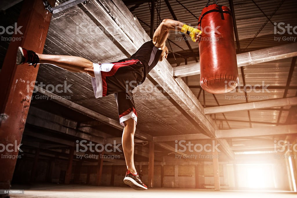 Flying punch - foto de stock