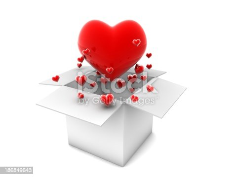 istock Flying Red Hearts 186849643