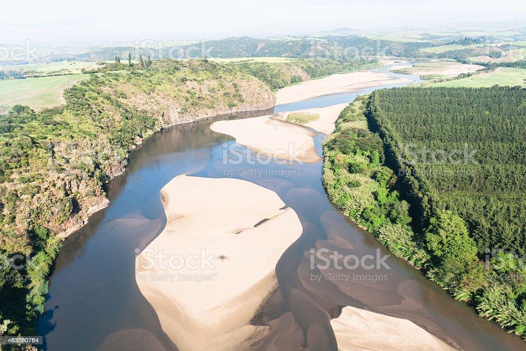 Flying River Landscape stock photo