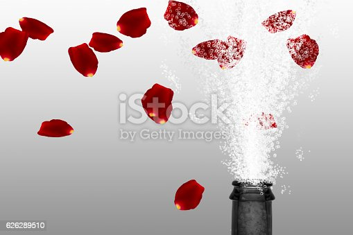 istock flying roses petals over fizzing sprout 626289510