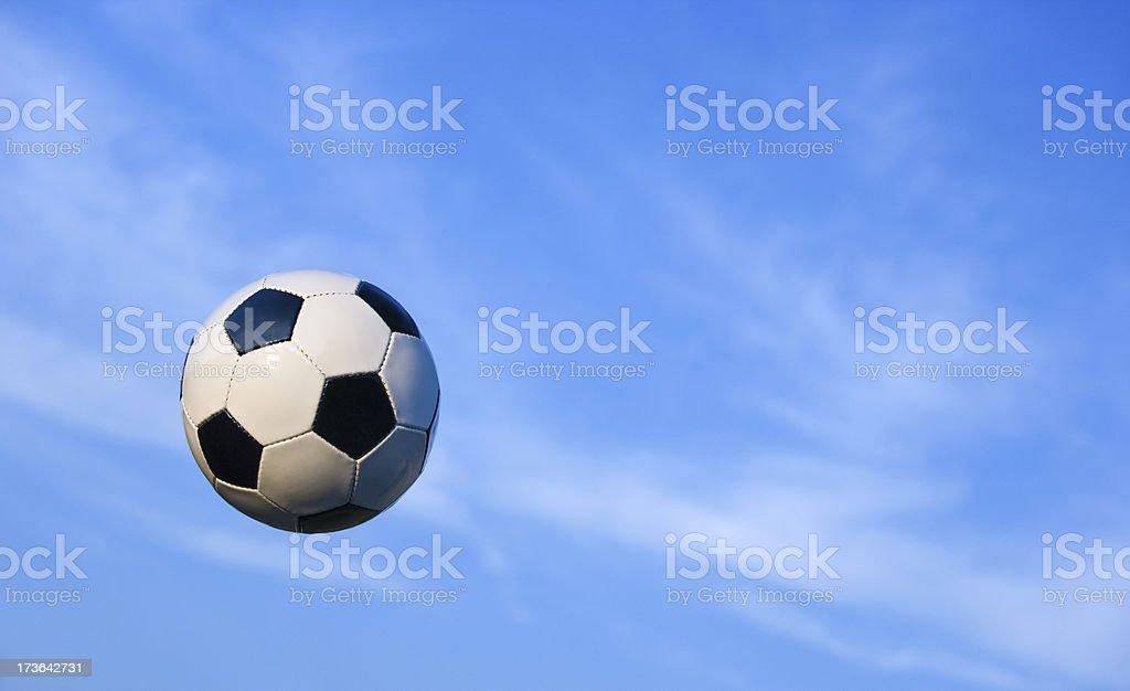 flying soccer ball royalty-free stock photo