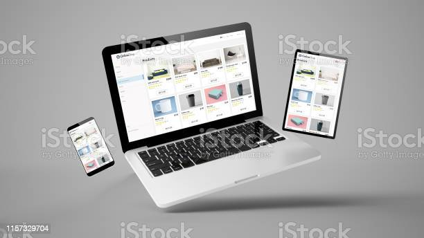 Flying tablet laptop and mobile phone showing online shop website picture id1157329704?b=1&k=6&m=1157329704&s=612x612&h=qz3t6w3a0srmcizoygycjnifbhbrdvl7nfscczm2i2k=
