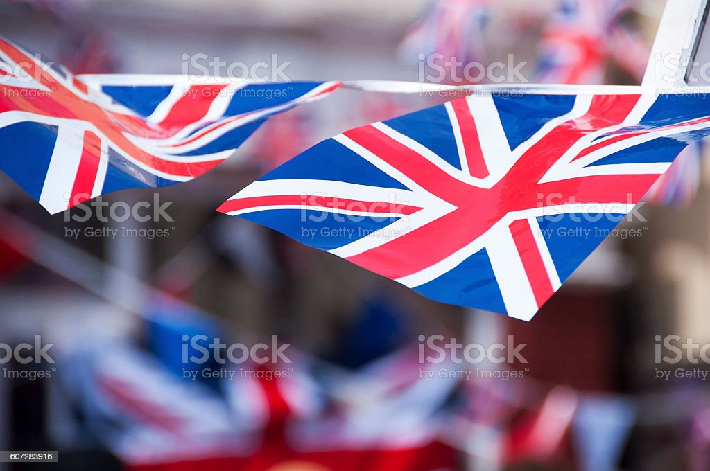 Flying the flag stock photo