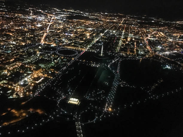 Best Washington Dc Night Aerial Stock Photos Pictures Royalty