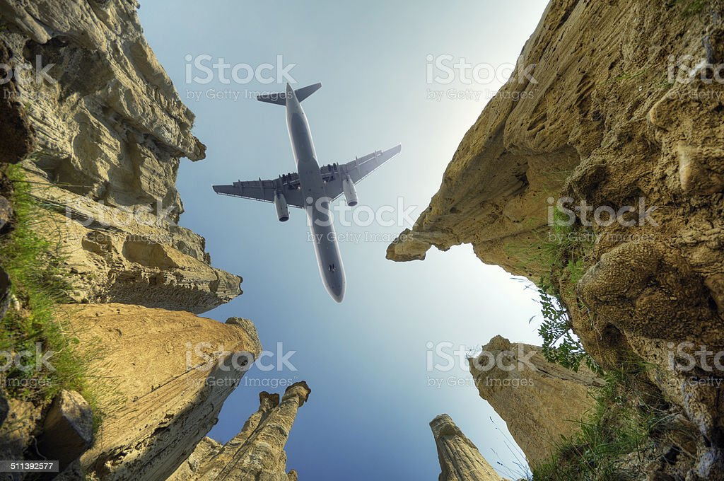 Flying to Distant Lands stock photo