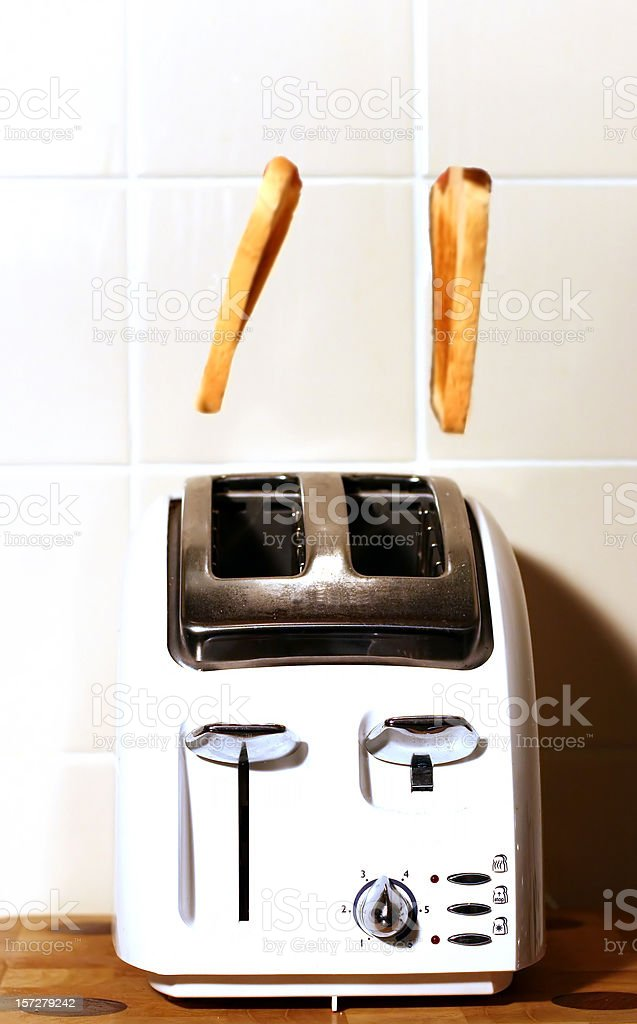 Flying Toast stock photo