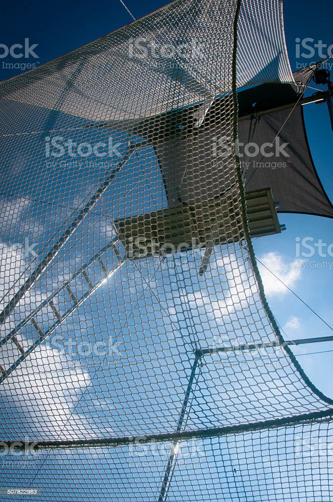 Flying Trapeze in the Sky stock photo