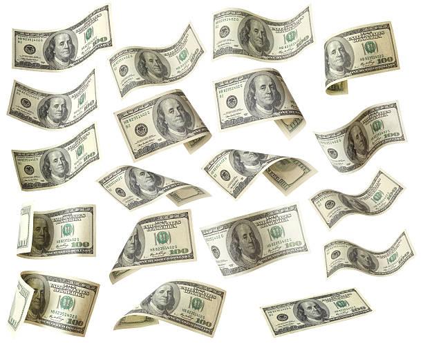 US-dollar-Banknoten isoliert mit Clipping Path – Foto