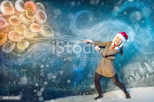 istock Flying With Winter Blizzard 498455392