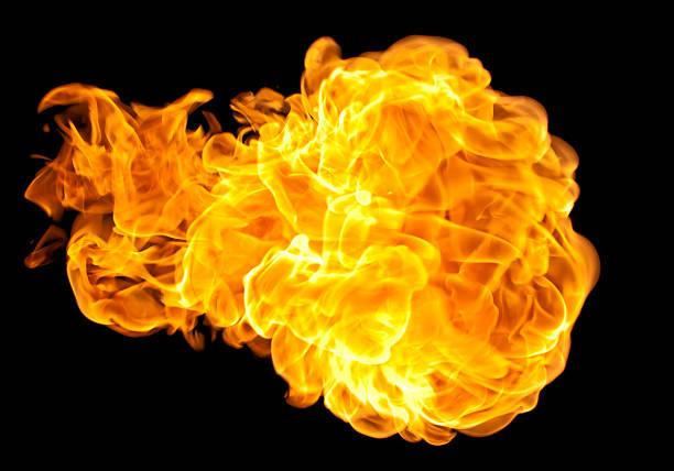 flying fire ball - feuerkugel stock-fotos und bilder