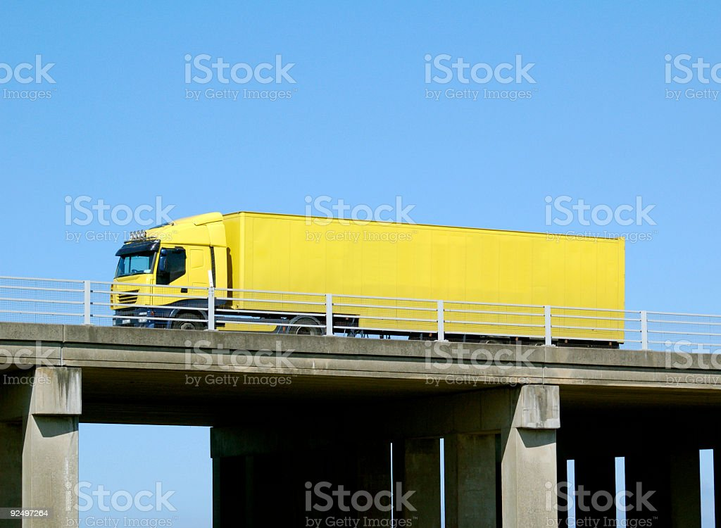 flyover truck royalty-free stock photo