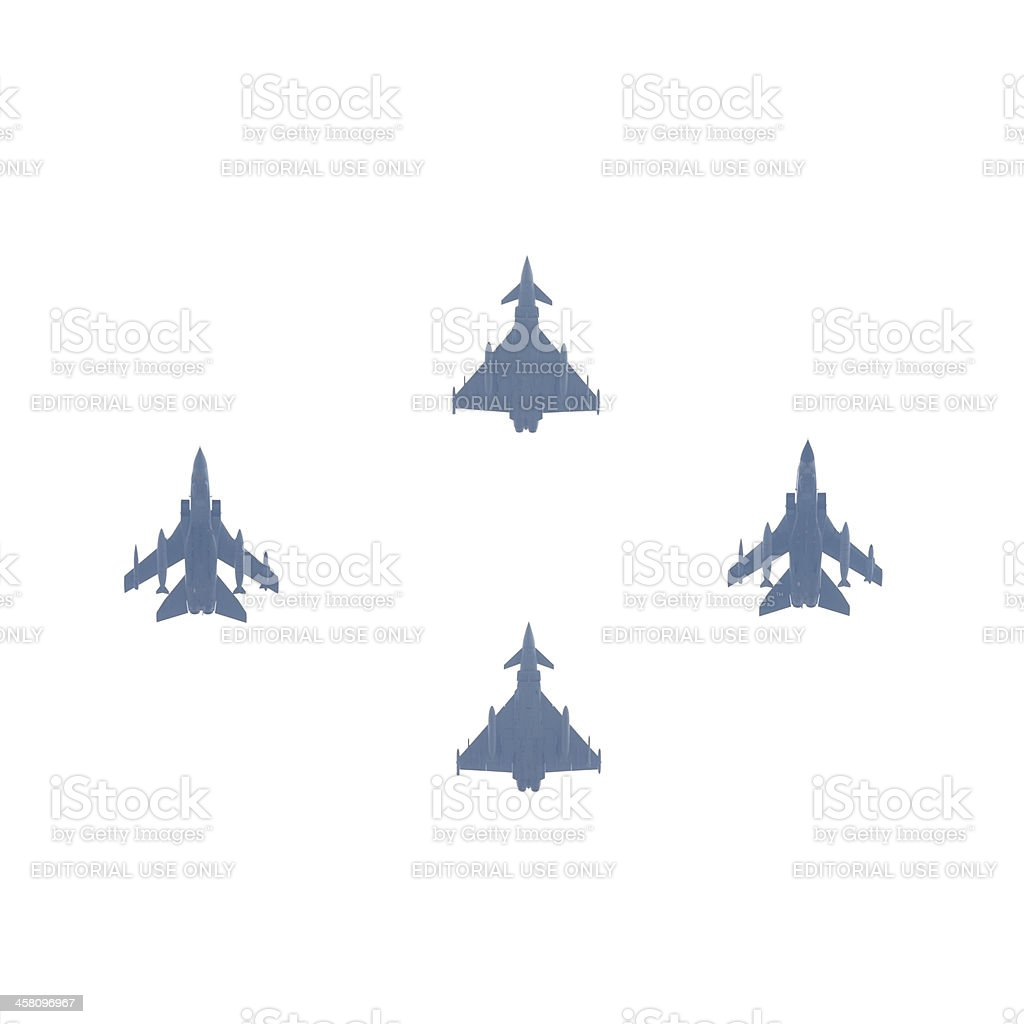 Flypast at the Royal Wedding Celebrations in London royalty-free stock photo