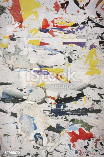 istock Fly-posting Wall Background 182765820