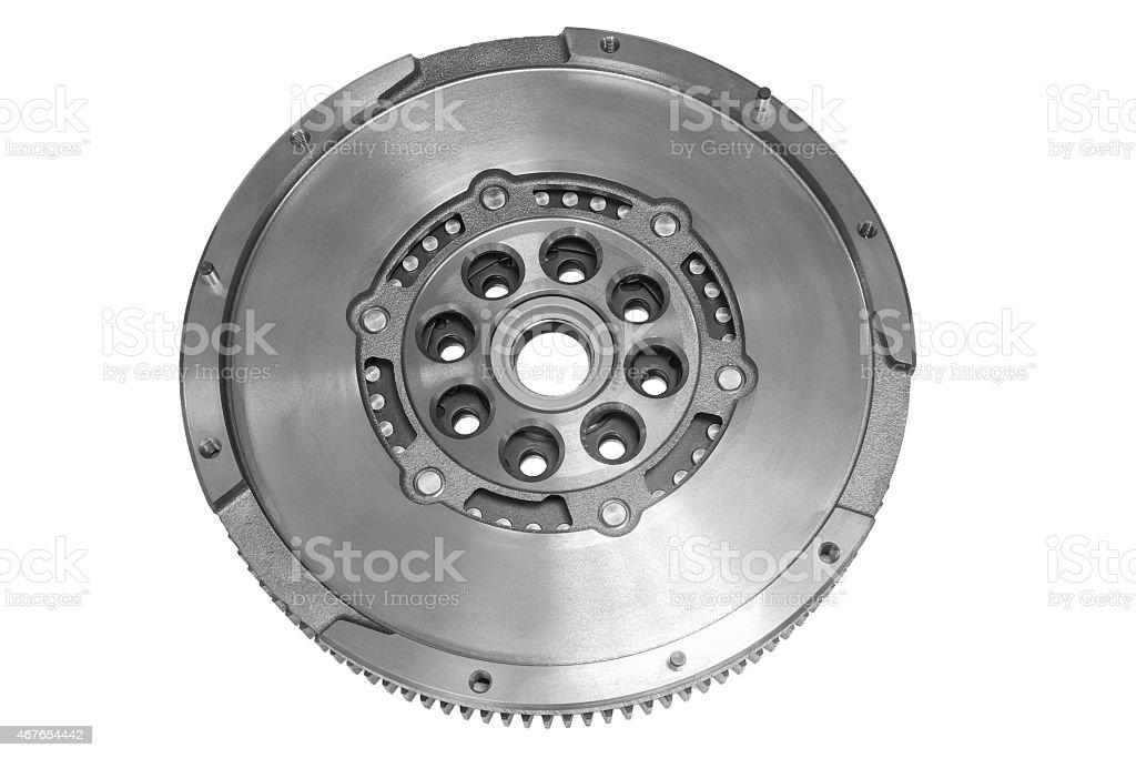 Flywheel car stock photo