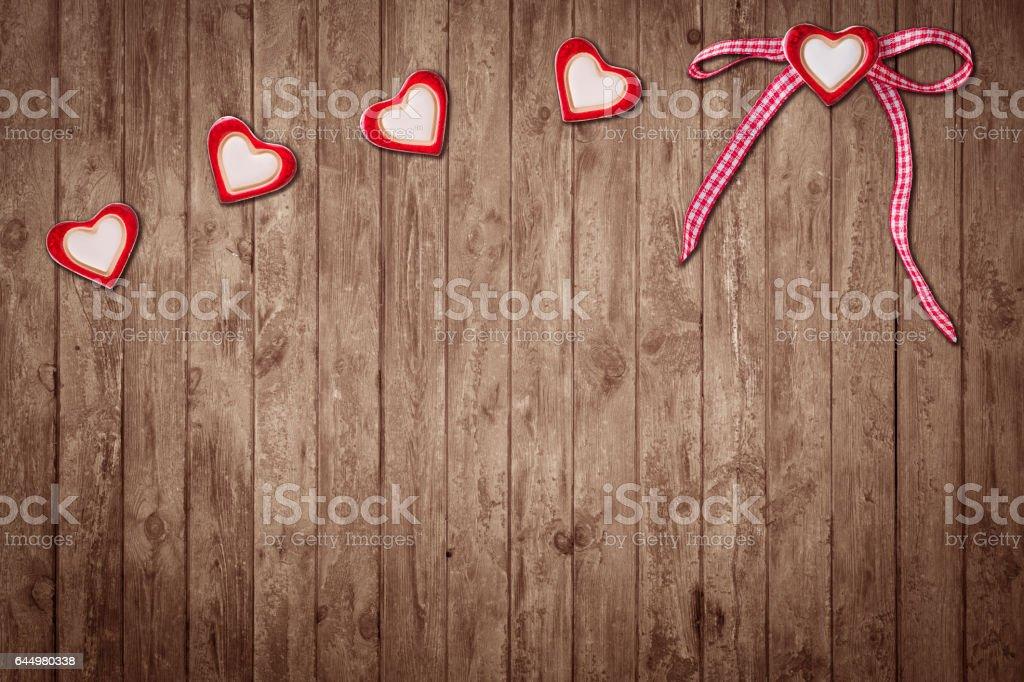 Fünf Herzen stock photo