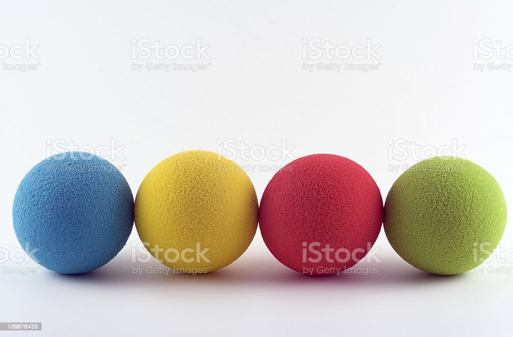 Foam balls stock photo