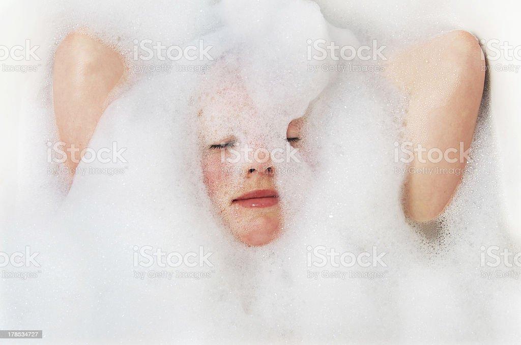 foam bath stock photo