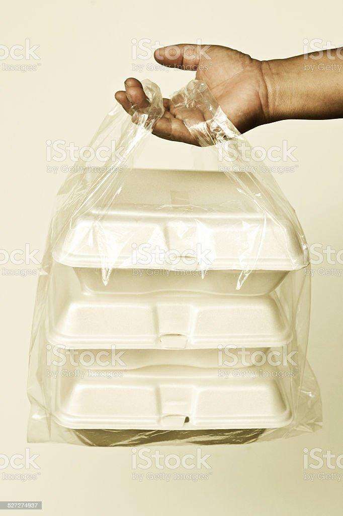 foam boxes stock photo