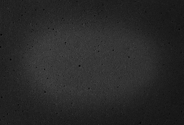 schiuma di pensiero grigio scuro texture - materiale gommoso foto e immagini stock
