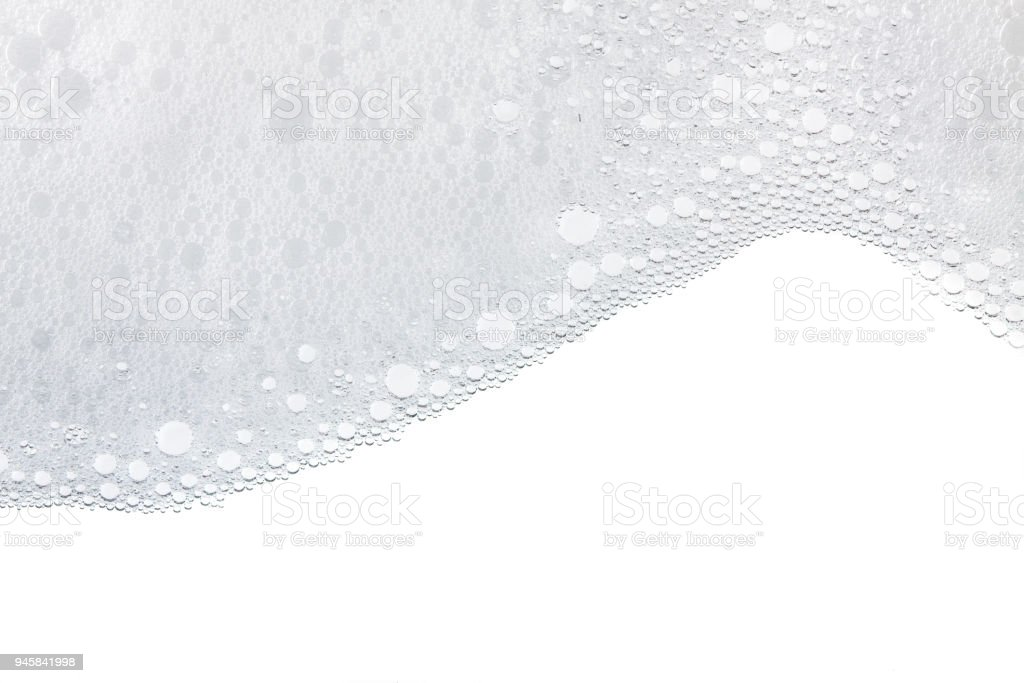 Foam bubbles abstract white background.