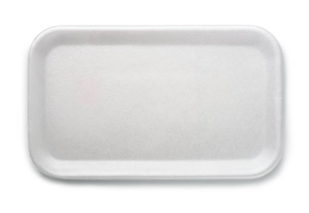 Foam food tray stock photo