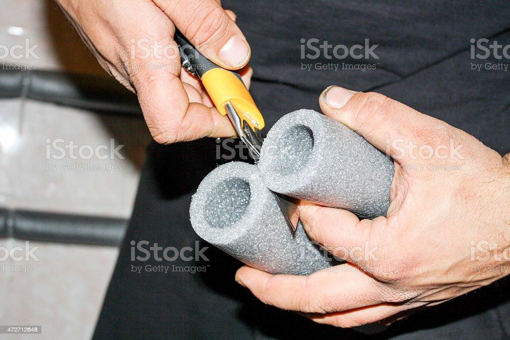 Foam Insulation For Pipes Stock Photo & More Pictures of