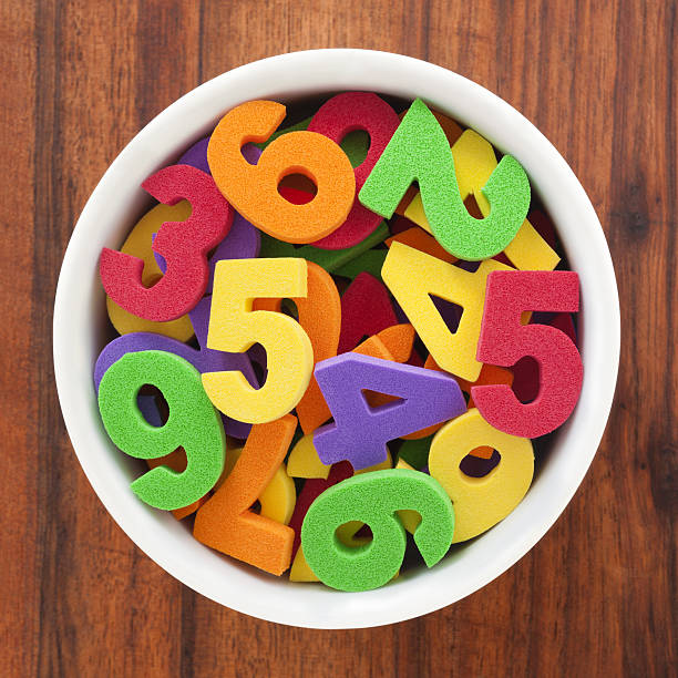 Foam numbers stock photo