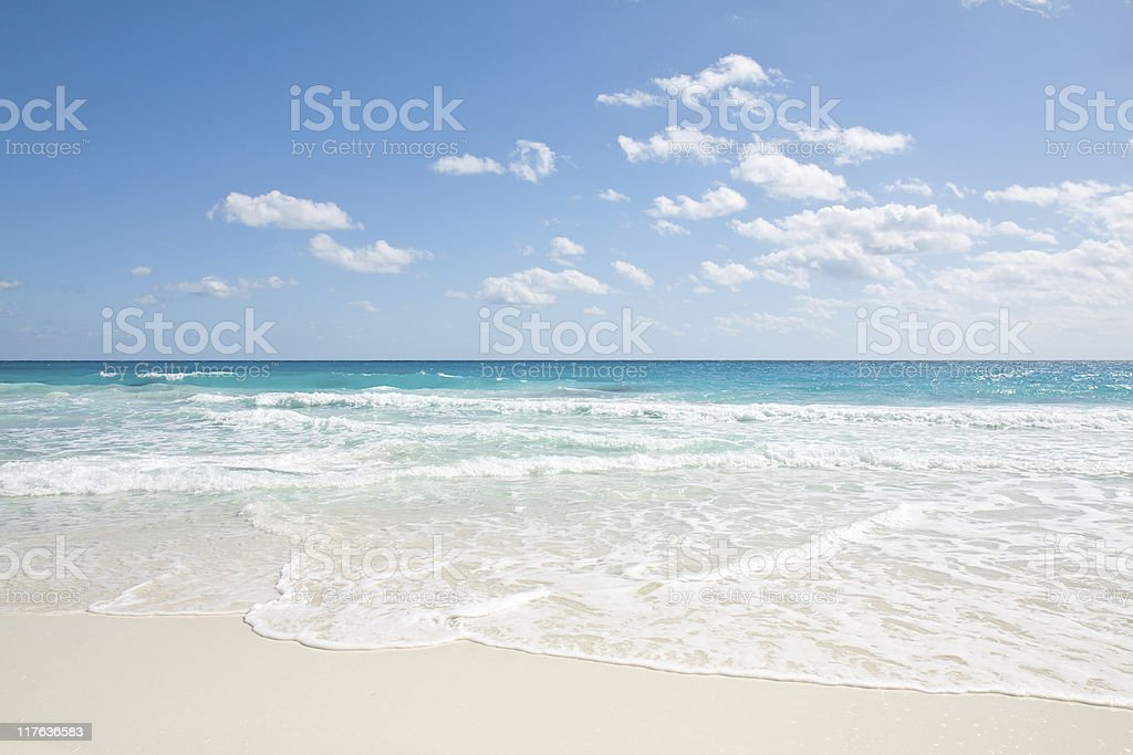 Foam Over White Sand royalty-free stock photo