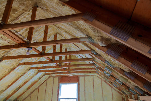 Foam plastic Insulation on a new roof Foam plastic Insulation of a new home on a new roof attic stock pictures, royalty-free photos & images