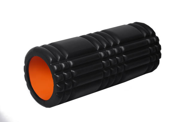 Foam Roller Gym Fitness Equipment Isolated on White Background stock photo
