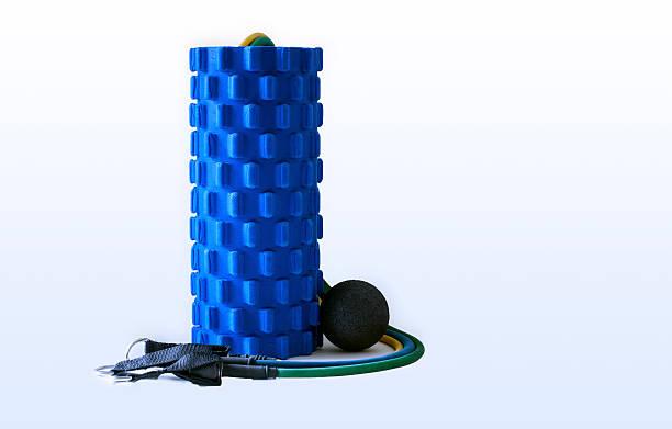foam roller massage ball fitness resistance bands equipment - balpress bildbanksfoton och bilder