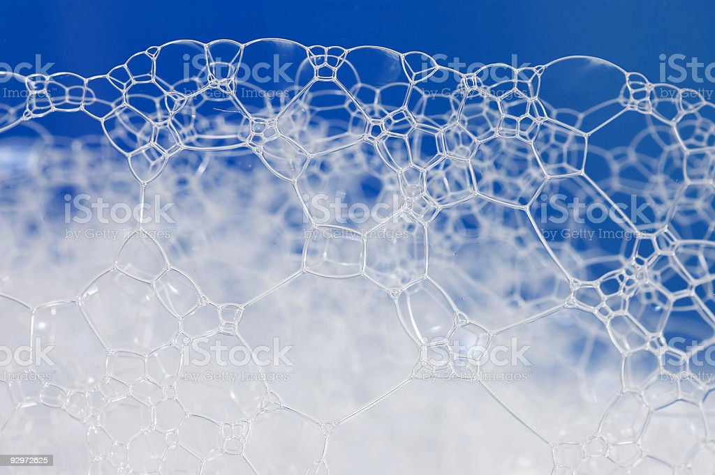 Foam structure stock photo