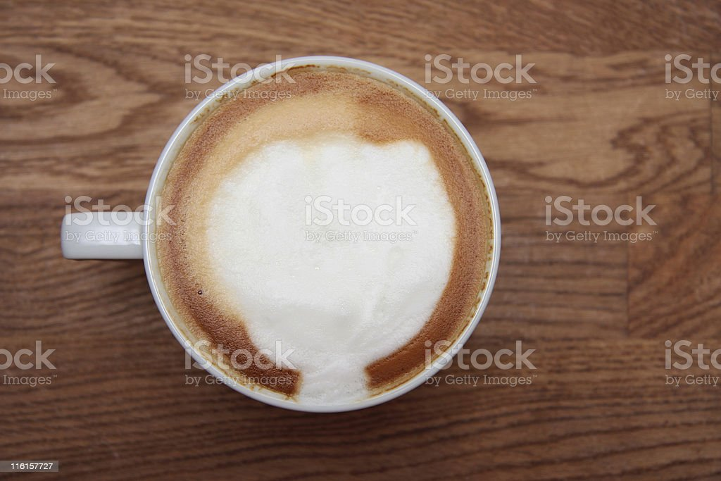 foaming esspresso royalty-free stock photo