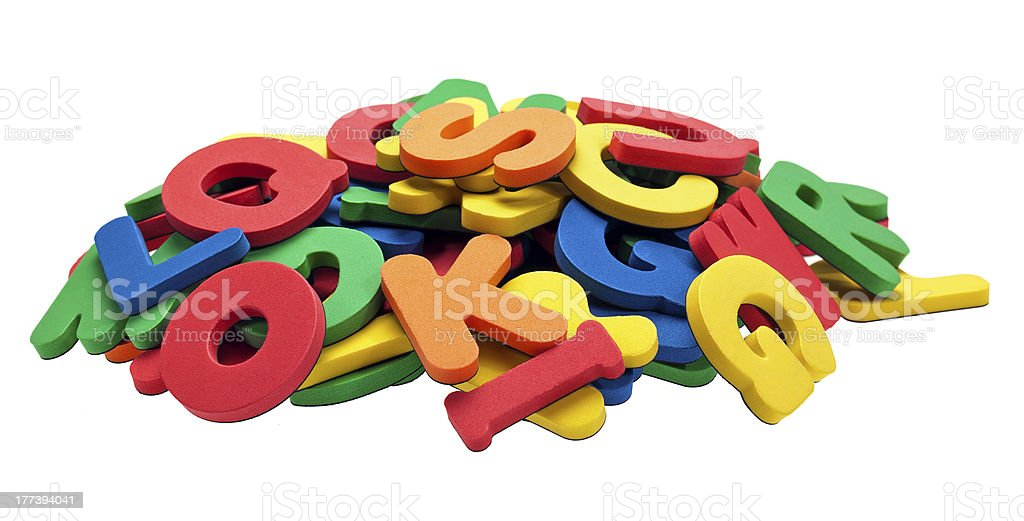 Foamy Alphabet royalty-free stock photo