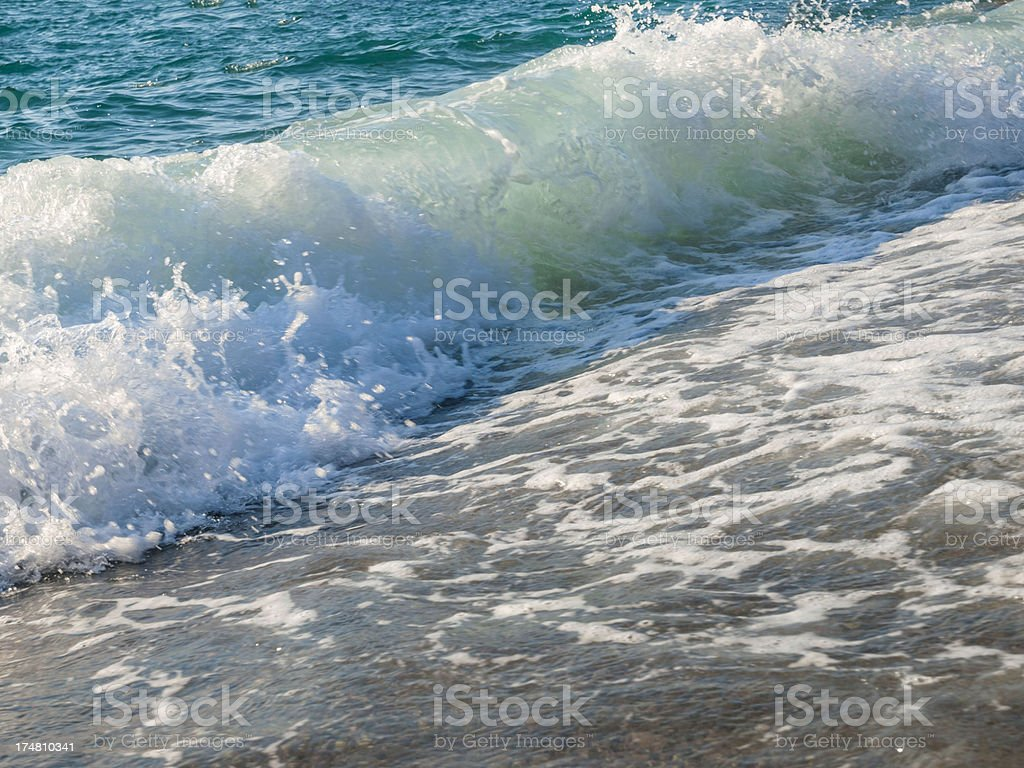 foamy sea royalty-free stock photo