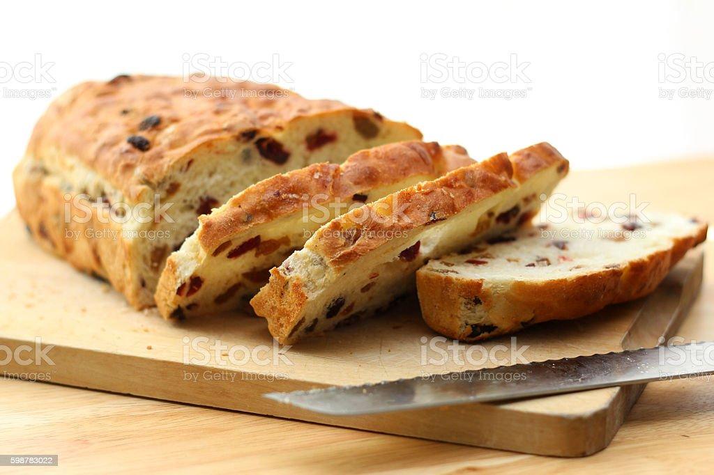 Focaccia Bread, Non-Traditional Shape stock photo