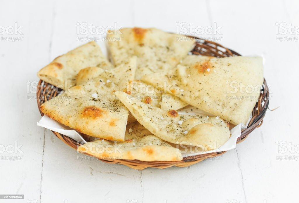 Focaccia bread stock photo
