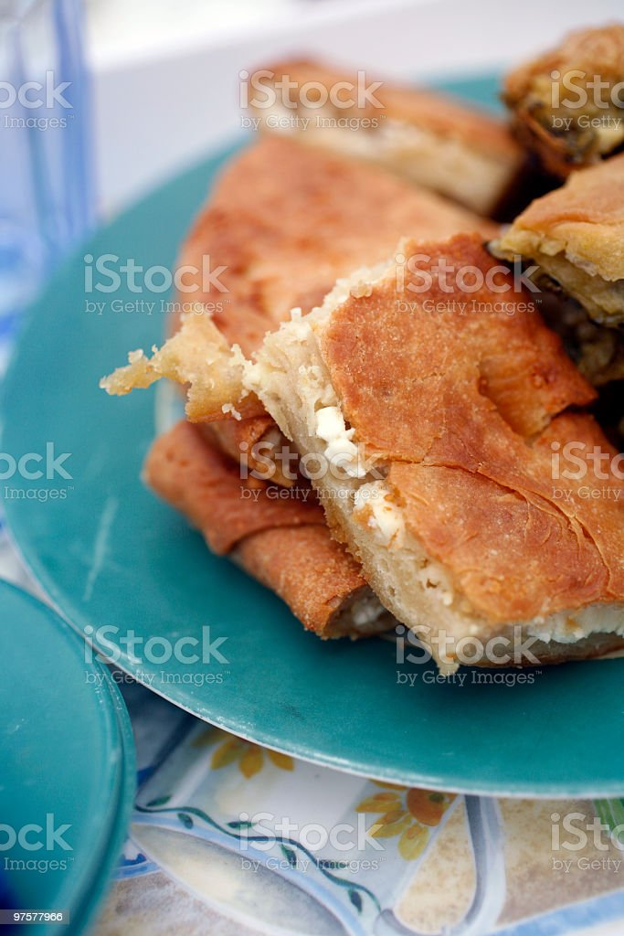 focaccia, homemade snack from Italy royalty-free stock photo