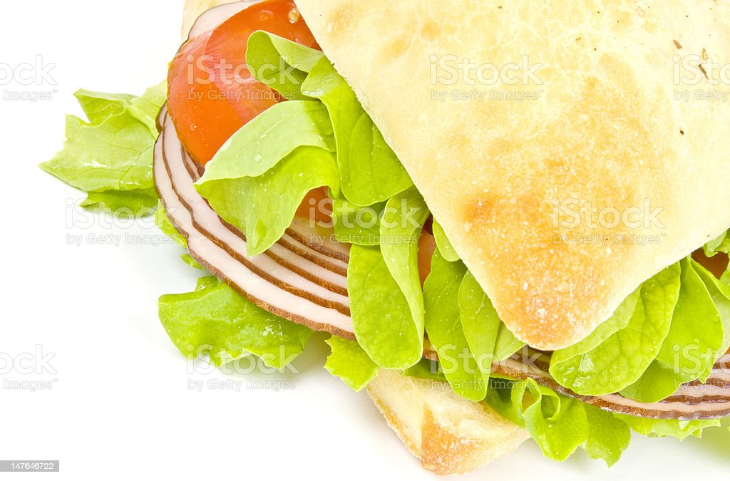 Focaccia Sandwich royalty-free stock photo