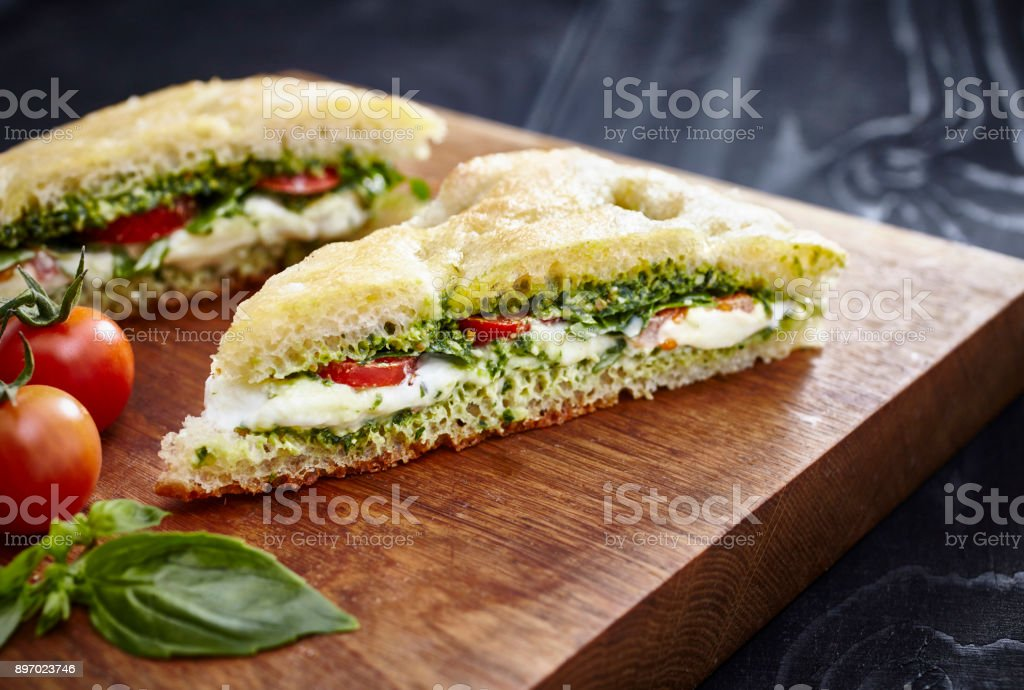 Focaccia Sandwich stock photo