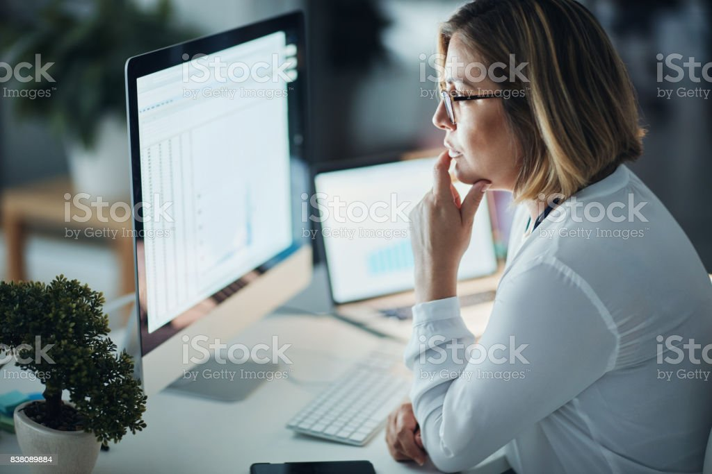 Focus and dedication got her far stock photo