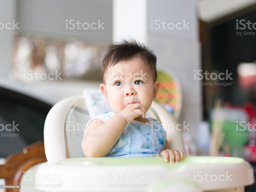 focus face appearance during having lunch stock photo