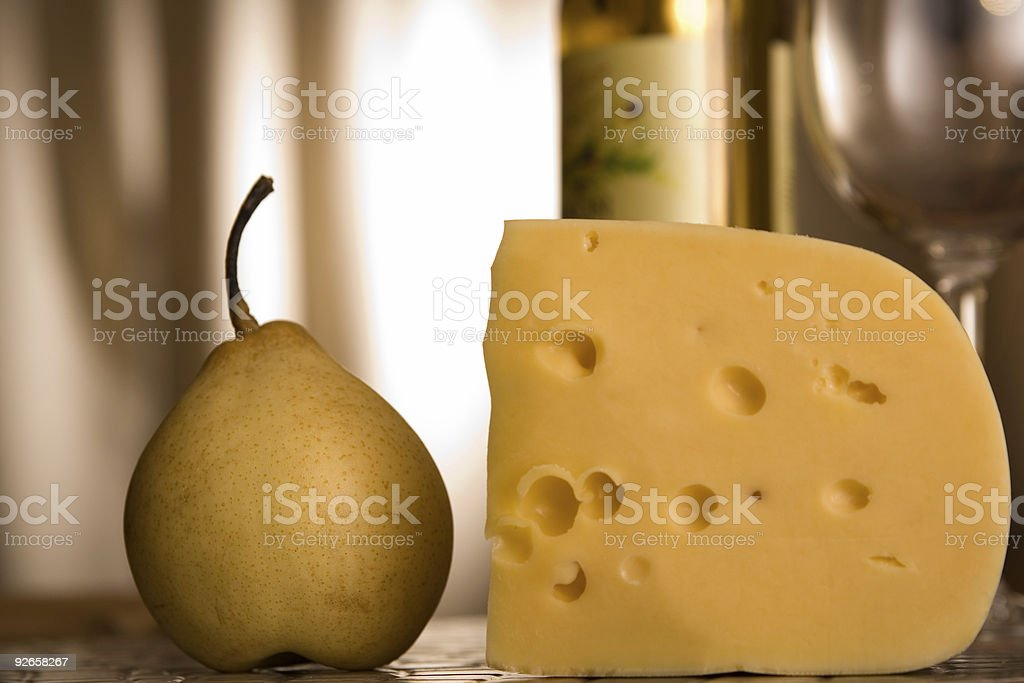 Focus in on the cheese royalty-free stock photo