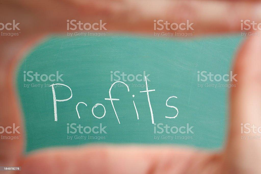 Focus of Profits stock photo