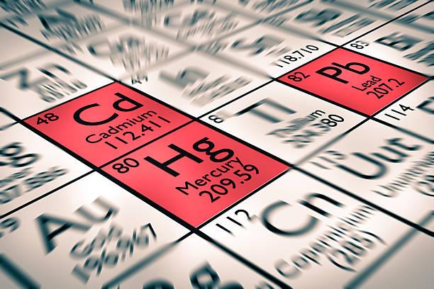 Fokus auf Kadmium und Blei und Quecksilber – Foto