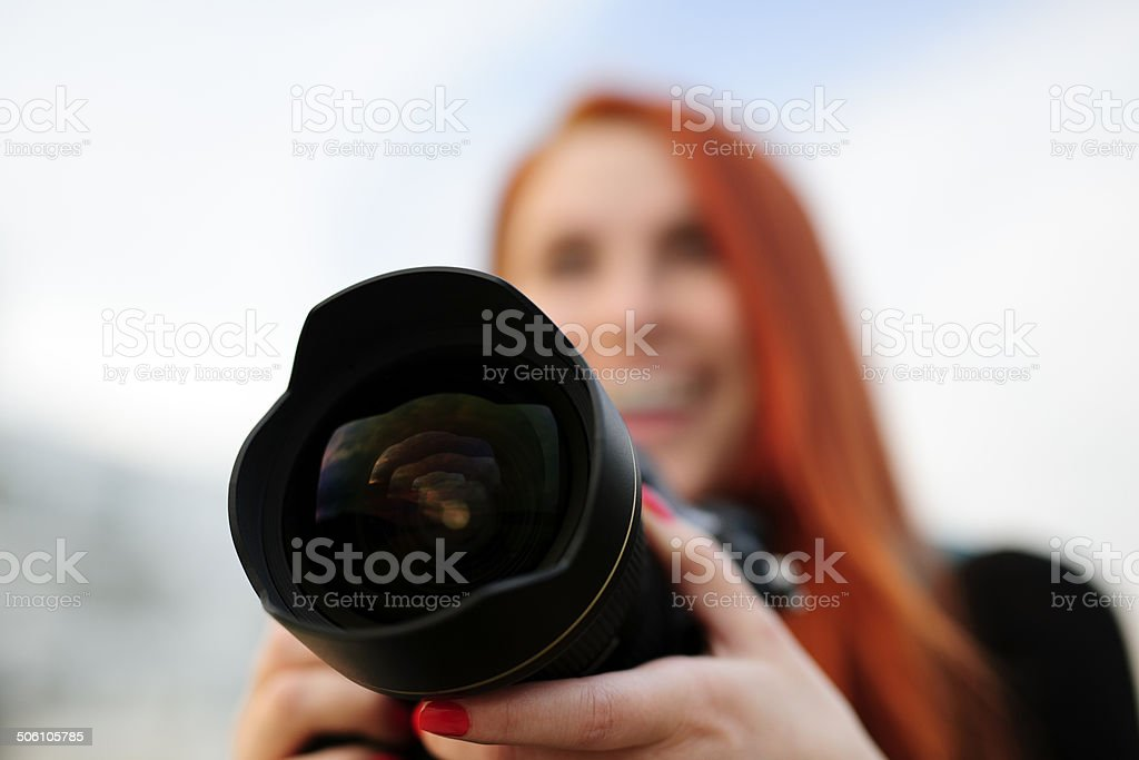 focus on camera royalty-free stock photo