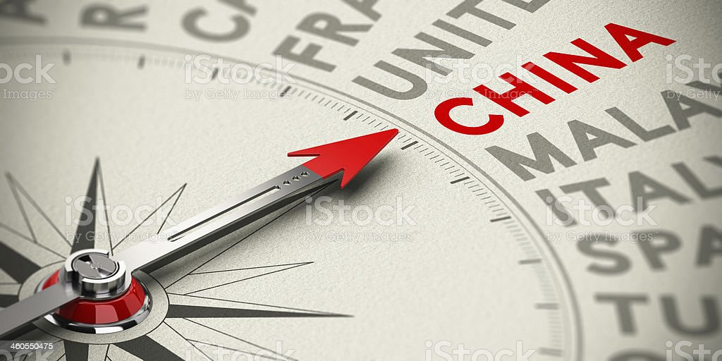 Focus on China - Concept stock photo