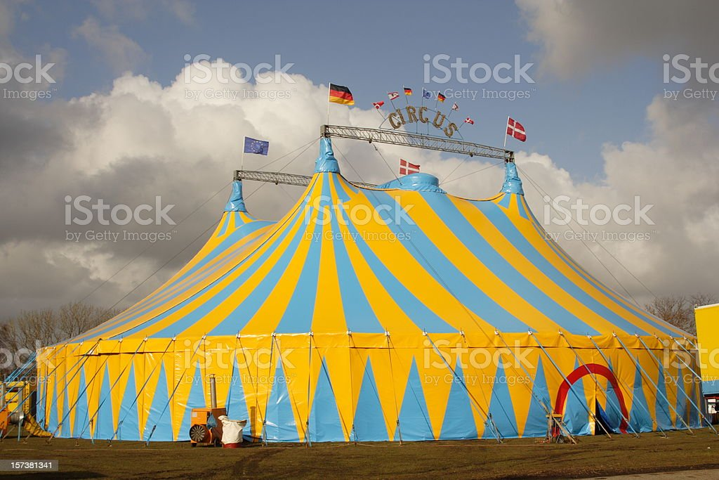 Focus on Circus tent stock photo