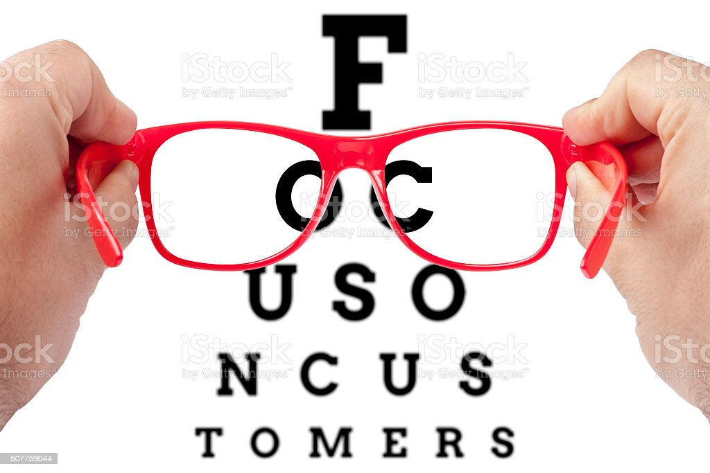 focus on customers stock photo
